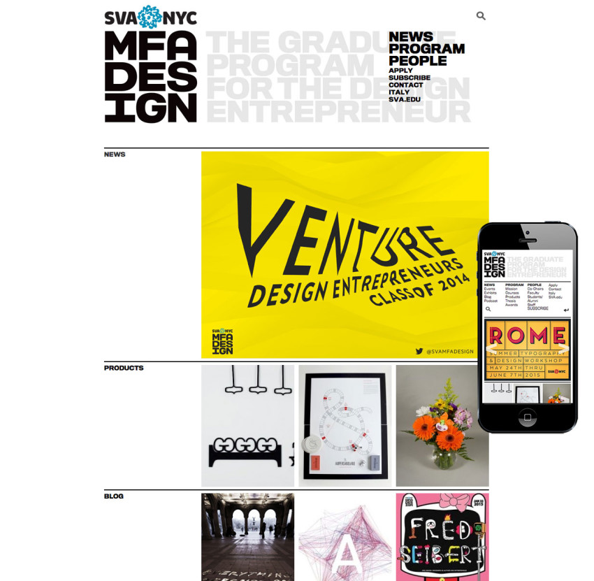SVA: The Graduate Program for the Design Entrepreneur